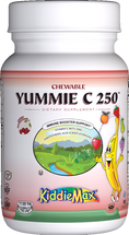 Maxi Health - KiddieMax - Chewable Yummie C 250 mg - Vitamin C - Cherry Flavor - 90/180 Chewies - DoctorVicks.com