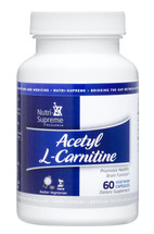 Nutri Supreme - Acetyl L-Carnitine 500 mg - 60 Capsules - Front - DoctorVicks.com