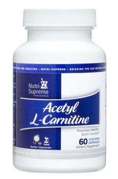 Nutri Supreme - Acetyl L-Carnitine 500 mg - 60 Capsules - Front - DoctorVicks.com