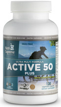 Nutri Supreme - Active 50 Plus - Kosher Multivitamins & Mineral For Adults Over 50 - 120 Capsules - Front - DoctorVicks.com