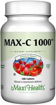Maxi Health - Max-C 1000 mg - Vitamin C & Bioflavonoids - 100/250 Tablets - DoctorVicks.com