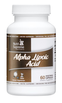 Nutri Supreme - Alpha Lipoic Acid 300 mg - 60 Capsules - Front - DoctorVicks.com