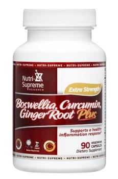 Nutri Supreme - Boswellia, Curcumin & GingerRoot Plus - 90 Capsules - Front - DoctorVicks.com