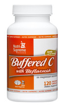 Nutri Supreme - Buffered C With Bioflavonoids 500 mg - 120 Capsules - Front - DoctorVicks.com