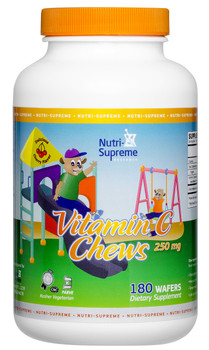 Nutri Supreme - Vitamin C Chews  - Orange Flavor - 180 Wafers - Front - DoctorVicks.com