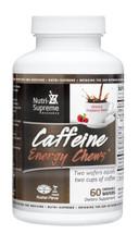 Nutri Supreme - Caffeine Energy Chews - Energy Formula - Raspberry Flavor - 60 Wafers - Front - DoctorVicks.com