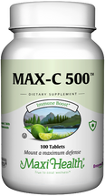 Maxi Health - Max-C 500 mg - Kosher Vitamin C & Bioflavonoids - 100 / 250 Tablets
