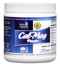 Nutri Supreme - Cal-Mag Powder With Vitamin D3 - Strawberry Orange Flavor - 390 Grams Powder - Front - DoctorVicks.com