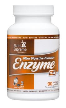 Nutri Supreme - Enzyme Plus - Digestive Formula - 90 Capsules - Front - DoctorVicks.com
