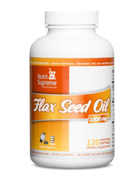 Nutri Supreme - Flax Seed Oil 2000 mg - 120 Softgels - Front - DoctorVicks.com