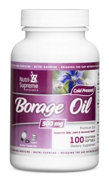 Nutri Supreme - Borage Oil (Former Premium GLA) 500 mg - 100 Softgels - Front - DoctorVicks.com