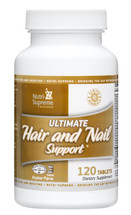 Nutri Supreme - Ultimate Hair & Nail Support - 120 Tablets - Front - DoctorVicks.com