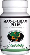 Maxi Health - Max-C-Gram Plus - Vitamin C & Bioflavonoids - 90/180 Tablets - DoctorVicks.com