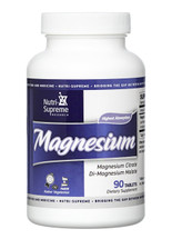 Nutri Supreme - Magnesium Citrate Malate 200 mg - 90 Tablets - Front - DoctorVicks.com