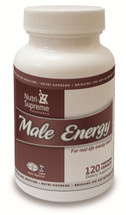 Nutri Supreme - Male Energy - Stamina Booster - 120 Capsules - Front - DoctorVicks.com