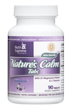 Nutri Supreme - Nature's Calm Tablets With Magnesium & L-Theanine - 90 Tablets - Front - DoctorVicks.com