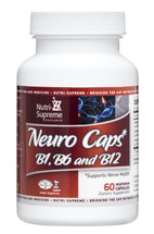 Nutri Supreme - Neuro Caps - B1, B6 and B12 - 60 Capsules - Front - DoctorVicks.com