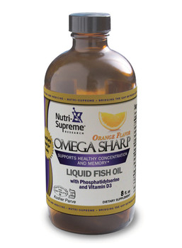 Nutri Supreme - Omega-3 Sharp - Orange Flavor - 8 fl oz - Front - DoctorVicks.com
