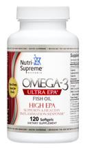 Nutri Supreme - Omega-3 Ultra EPA - 120 Softgels - Front - DoctorVicks.com