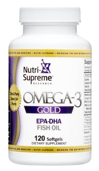 Nutri Supreme - Omega-3 Gold - EPA/DHA - 120 Softgels - Front - DoctorVicks.com