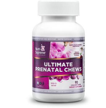 Nutri Supreme - Prenatal Chews - Natural Cherry Flavor - 90 Wafers - Front - DoctorVicks.com