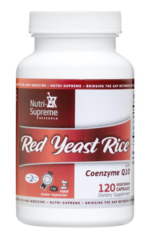 Nutri Supreme - Red Yeast Rice with CoQ10 - 120 Capsules - Front - DoctorVicks.com