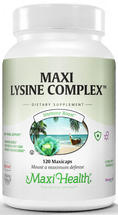 Maxi Health - Maxi Lysine Complex With Probiotics - 60/120 MaxiCaps - DoctorVicks.com