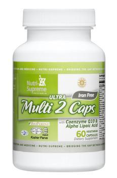 Nutri Supreme - Ultra Multi 2 Caps - With CoQ10 100 mg - 60 Capsules - Front - DoctorVicks.com