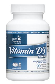 Nutri Supreme - Vitamin D3 1000 IU - 90 Capsules - Front - DoctorVicks.com