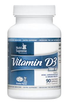 Nutri Supreme - Vitamin D3 2000 IU - 90 Capsules - Front - DoctorVicks.com