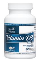 Nutri Supreme - Vitamin D3 3000 IU - 90 Capsules - Front - DoctorVicks.com