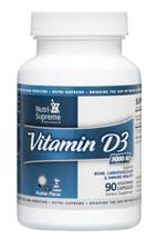 Nutri Supreme - Vitamin D3 5000 IU - 90 Capsules - Front - DoctorVicks.com