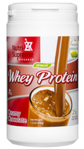 Nutri Supreme - Whey Protein Sweetened With Erythritol & Stevia - Chocolate Flavor - 1.2 lb Powder - Front - DoctorVicks.com