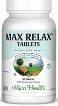 Maxi Health - Max Relax Tablets - Kosher Stress Reliever - 60 Tablets - DoctorVicks.com