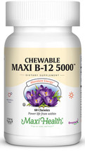 Maxi Health - Chewable Maxi B-12 5000 mcg - Berry Flavor - 60 Chewies - DoctorVicks.com