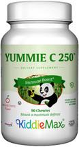 Maxi Health - KiddieMax - Yummie C! - Vitamin C 250 mg - Bubble Gum Flavor - 90/180 Chewies - DoctorVicks.com