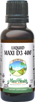 Maxi Health - Liquid Maxi Vitamin D3 400 IU - 1 fl oz - DoctorVicks.com
