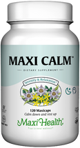 Maxi Health - Maxi Calm - Stress Reliever - 100 MaxiCaps - DoctorVicks.com