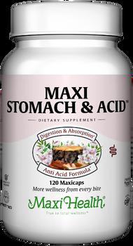 Maxi Health - Maxi Stomach & Acid - Digestive Supplement - 120 MaxiCaps - DoctorVicks.com