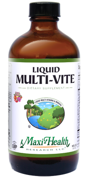 Maxi Health - Liquid Multi-Vite - Multivitamin & Mineral - Fruit Punch Flavor - 16 fl oz - DoctorVicks.com
