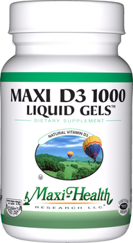 Maxi Health - Maxi Vitamin D3 1000 IU - 90 Liquid Softgels - DoctorVicks.com