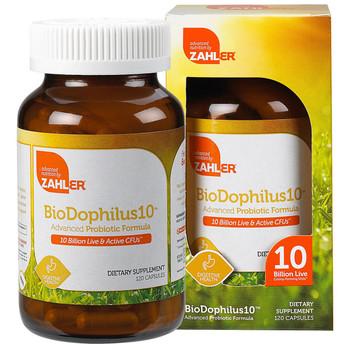 Zahler's - BioDophilus - 10 Billion Live & Active CFUs - 120 Capsules - DoctorVicks.com