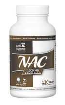 Nutri Supreme - NAC N-Acetyl-L-Cysteine 1000 mg - 120 Tablets - Front - DoctorVicks.com