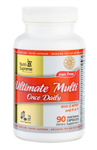 Nutri Supreme - Ultimate Multi Once Daily with 5 MTHF & P-5-P - 90 Capsules - Front - DoctorVicks.com