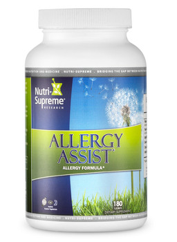 Nutri Supreme - Allergy Assist - High Strength Kosher Allergy Formula - 180 Tablets - Front - DoctorVicks.com