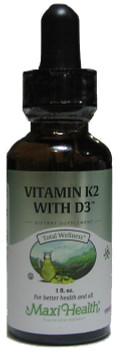 Maxi Health - Liquid Vitamin K2 with D3 - 1 fl oz - DoctorVicks.com