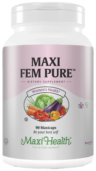 Maxi Health - Maxi Fem Pure - Blood Circulation Formula - 90 MaxiCaps - DoctorVicks.com