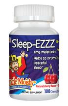 Uncle Moishy Vitamins - Sleep-Ezzz - Kosher Melatonin 1 mg - Cherry Flavor - 100 Chewies - DoctorVicks.com