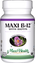 Maxi Health - Maxi B-12 With Biotin 5000 mcg - as Cyanocobalamin - Strawberry Flavor - 60 Chewies - DoctorVicks.com