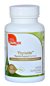 Zahler's - Thyraide - Kosher Thyroid Support Formula - 60 Capsules